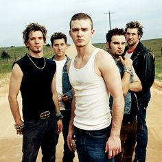 NSYNC.......and you thought  JT was a big deal back then....LOL