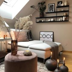 14 Brown Living Rooms That Prove It's a Pretty Hue - - Brown Living Rooms That . - 14 Brown Living Rooms That Prove It's a Pretty Hue - - Brown Living Rooms That Prove It's a Pretty Hue - Beige Room, Beige Living Rooms, Paint Colors For Living Room, Cozy Living Rooms, Home Living Room, Living Room Designs, Living Room Decor, Living Room Brown, Brown Walls