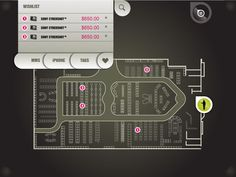 Touch Screen Retail Map by stuart mayhew, via Behance