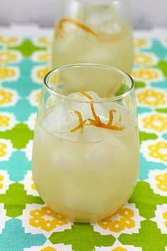 Get fancy with this Great Gatsby Grapefruit Lillet Cocktail from We Are Not Martha.