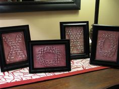 10 Goodwill Valentines Projects....I really like the effect of the clear gemstones against the decorative paper!