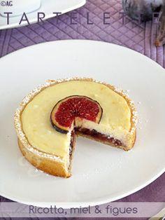Délices de #tartelettes à la ricotta, #miel & #figues !