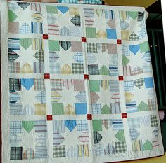 Men's shirt quilt.  Heather Creswell Creswell