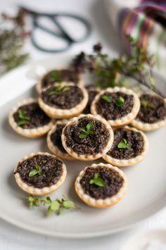 Mushroom Tarts. Recipe adapted from Pete Evans