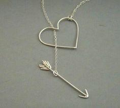Imagen de heart, necklace, and arrow