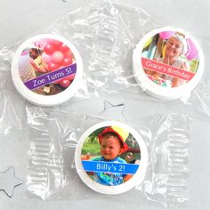 Photo Life Savers Mint Favors at Elegant Gift Gallery. We're your number one source for personalized birthday party favors and photo party favors. First Birthday Party Favor, Birthday Candy, Birthday Favors, Girl Birthday, Individually Wrapped Candy, Edible Gifts, Personalized Labels, Wedding Party Favors, Life Savers