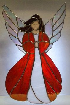 Stained Glass Angel Panel by stainedglasswv on Etsy, $85.00