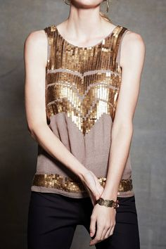 [Deco Sequin Tank by Anthropologie]