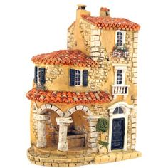 Clay Houses, Ceramic Houses, Miniature Crafts, Miniature Houses, Garden Nook, Medieval Houses, House On The Rock, Home Candles, Fairy Houses