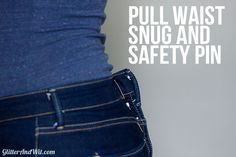 How to Take in a Jeans Waist - The Sewing Rabbit Altering Jeans, Altering Clothes, Sewing Hacks, Sewing Tutorials, Sewing Patterns, Make Skinny Jeans, Sewing Jeans, Sewing Alterations, Sewing Material