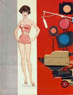 Connie Francis paper doll