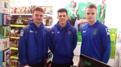 Huge thanks to Inverness Caledonian Thistle FC players for volunteering in our Oxfam shop. Can you #GiveaShift? http://oxf.am/ZnXB