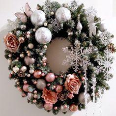 """Christmas wreath """"ROME"""" Рождественский настенный венок """"РИМ"""""""