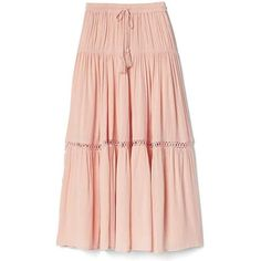 Gap Women Tiered Maxi Skirt ($70) ❤ liked on Polyvore featuring skirts, murmur pink, tall, long tiered ruffle skirt, pink ruffle skirt, tiered maxi skirt, long skirts and ruffled skirts