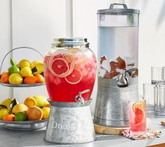 Galvanized Drink Dispenser with Stand - pairs perfectly with rustic, natural or more refined table elements.  It's a versatile piece in a new finish...