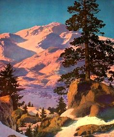 Maxfield Parrish, Winter Paradise 1939