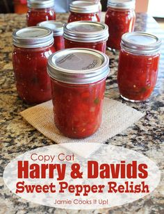 Copy Cat Harry and Davids Sweet Pepper Relish from Jamie Cooks It Up! Canning a big batch of this today. Always a crowd pleaser and so great to have on hand throughout the year.