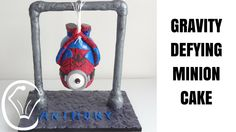 Gravity Defying Spiderman Minion Cake by Cupcake Savvy's Kitchen