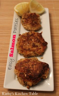 Easy Salmon Patties | Kathy's Kitchen Table - These Salmon Patties are a family staple! Quick. Easy. Healthy.
