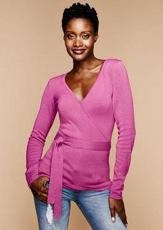 Ballerina Faux Wrap Sweater - View All Sweaters - Sweaters - Clothing - Alloy Apparel