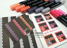Color on Back to Black designer paper with Stampin' Up! Blendabilities alcohol markers!