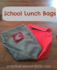 DIY School Lunch Bag: DIY Reusable Lunch Bag