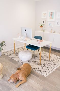 I'm so excited to finally share my minimal california inspire home office! It was important to create a space that would bring me joy to work in. West Elm California decor, Serena and Lily, Lulu and Georgia and Ikea Hack Zen Home Office, Feng Shui Home Office, Home Office Decor, Office Ideas, Office Inspo, Cool Office Space, Office Workspace, Office Interior Design, Office Interiors