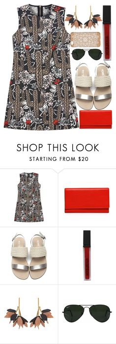 """""""Cactus Red"""" by egordon2 ❤ liked on Polyvore featuring Markus Lupfer, Carré Royal, Smashbox, Marni, Ray-Ban, red, Cactus, Desert, vacation and EGTopSets"""