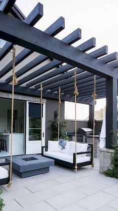Outdoor Patio Designs, Small Backyard Landscaping, Patio Ideas, Dog Backyard, Backyard Pools, Small Patio, Backyard Ideas, Patio Pergola, Diy Patio