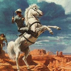 The Lone Ranger 1997 Dart Promo Card Bonus Collectable Offers Radio Spirits Inc Real Cowboys, Cowboys And Indians, Cowboy Art, Western Cowboy, Western Comics, Tv Westerns, The Lone Ranger, West Art, Le Far West