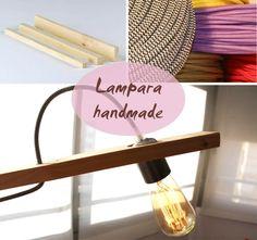 Lights, Blog, Handmade, Home Decor, Happy, Home, Wood Slats, Bulbs, Manualidades