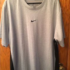 Nike dri fit tee Nike dri fit tee. New, only tried on never worn. Nike Tops Tees - Short Sleeve