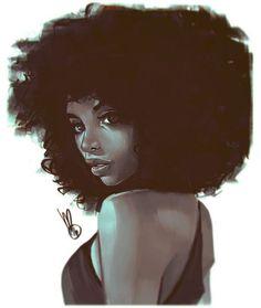 "melmilton: "" Tonites photoshop dook… keep on keeping on! Black Love Art, Black Girl Art, Black Is Beautiful, Black Girl Magic, Art Girl, African American Art, African Art, Natural Hair Art, Natural Hair Styles"