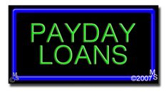 "Payday Loans Neon Sign - 20"" x 37""-ANS1500-2778-R  37"" Wide x 20"" Tall x 3"" Deep  Flashing Border ""ON/OFF"" switch  Sign is mounted on an unbreakable black or clear Lexan backing  Top and bottom protective sides  110 volt U.L. listed transformer fits into a standard outlet  Hanging hardware & chain included  6' Power cord with standard transformer  For indoor use only  1 Year Warranty on electrical components."