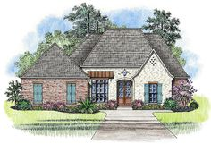 Open Concept 4-Bed Acadian House Plan - 56405SM | Acadian, European, French Country, Southern, 1st Floor Master Suite, Jack & Jill Bath, PDF | Architectural Designs