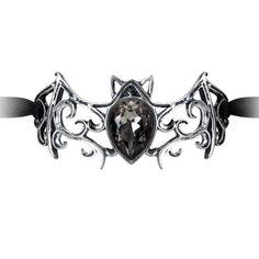 Alchemy Gothic Viennese Nights Ribbon Bat Bracelet With a sparkling body of…