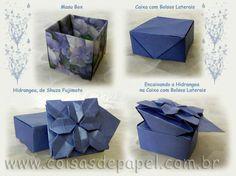 Hortência … ou Hydrangea? Uma Caixa de Origami