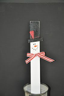 Snowmen RULE!!!  Make with a paint stir stick to see how deep the snow is getting!  Maybe use a long piece of lathe! :O)