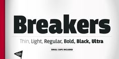 Breakers™ - Webfont & Desktop font « MyFonts
