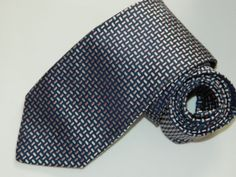 f0cffe3c326d Men's Hugo Boss Blue 100%Silk Neck tie made in Italy #fashion #clothing