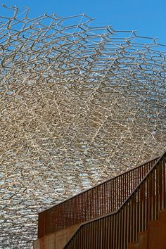 Image 12 of 16 from gallery of UK Pavilion - Milan Expo 2015 / Wolfgang Buttress. Photograph by UKTI Expo Milano 2015, Expo 2015, Pavilion Design, Unusual Buildings, Architectural Features, Architecture Details, Pavilion Architecture, Landscape, Gallery