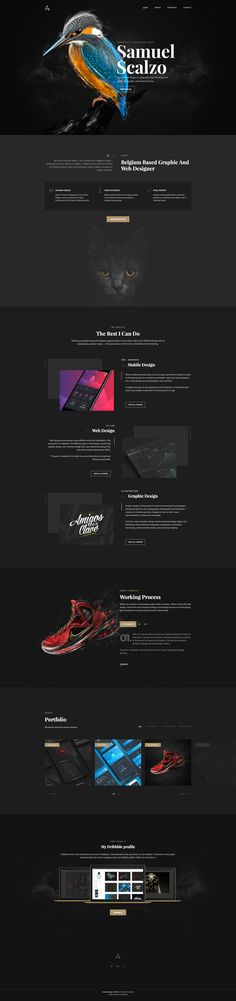Personal website on Behance