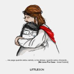 … me pega quando estou caindo, e me abraça quando estou chorando… #Jesus #JesusCristo #JesusSaves #JesusIsLord #Graça #Amor #Compaixão #Salvação #Abraço #Lágrimas #Choro