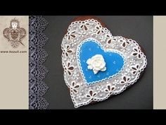 Lace Heart Cookie for Mother's Day. Cookie decorating with royal icing. Video tutorial - YouTube