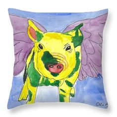 Want to buy this pillow? Click on the title or follow this link:  https://fineartamerica.com/featured/ozzy-the-pigasus-ali-baucom.html?product=throw-pillow