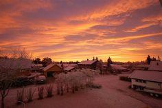 Sunset in Elverum, Norway
