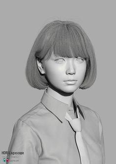 New personal work She is Saya Maya V-Ray ZBrush MARI PHOTOSHOP Quixel2.0 Shave and hair cuts Nuke