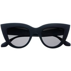Freyrs Magnolia (810 MXN) ❤ liked on Polyvore featuring accessories, eyewear, sunglasses, glasses, black, cat eye sunglasses, lens glasses, cat-eye glasses, cateye sunglasses and stainless steel glasses