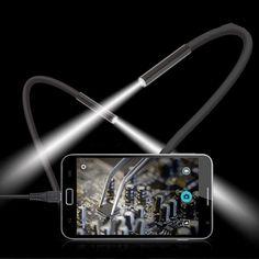 2 M 6 LED USB Impermeable Del Animascopio Del Endoscopio de Inspección de Serpiente Cámara de Vídeo de 7mm