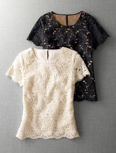 Talbots - Floral Lace Top- love the structure and pattern